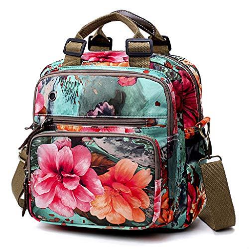 Shoresu Diaper Bag, Cute Mommy Backpack Crossbody Baby Bags Handbag for Women - Green