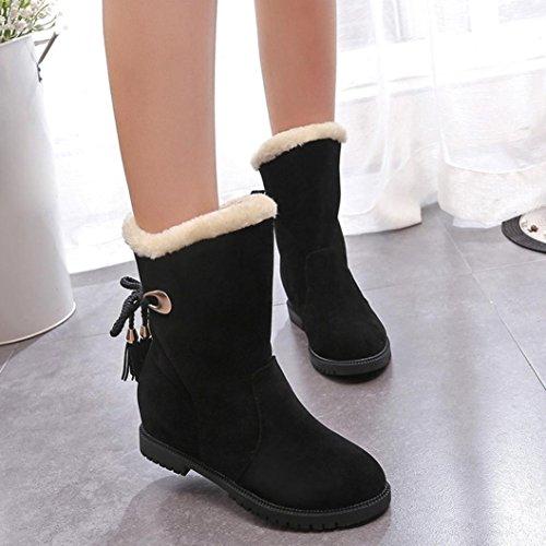 Botas Mujer,Ouneed ® Mujeres invierno mantener caliente botas de nieve Botas de tobillo zapatos de moda Negro