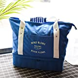 Gym Duffel Bag Travel Tote Bag with Shoes Compartment, Canvas Shoulder Hand Bag