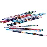 "Disney Frozen Assorted Pencil Birthday Party Favour and Prize Giveaway (12 Pack), Multi Color, 7 3/8""."
