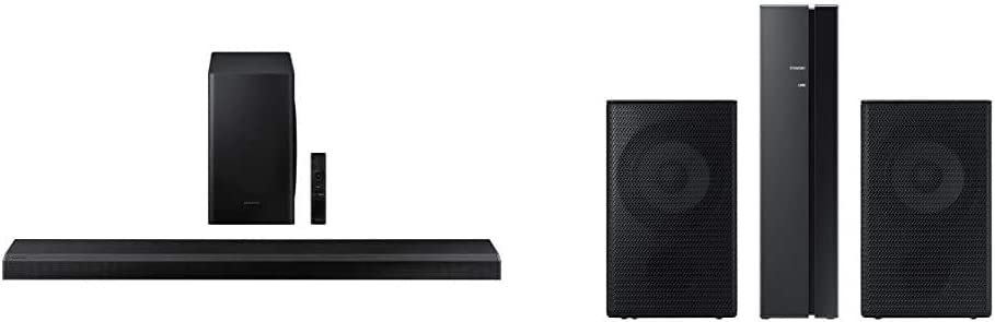 Samsung HW-Q70T 3.1.2ch Soundbar with Dolby Atmos/DTS:X (2020) with Samsung SWA-9000 Rear Speaker System