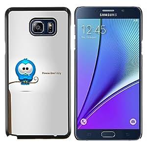 """Be-Star Único Patrón Plástico Duro Fundas Cover Cubre Hard Case Cover Para Samsung Galaxy Note5 / N920 ( Cry Tears dulce Cita del amor de la historieta Caring"""" )"""