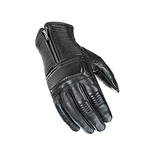 Joe Rocket Cafe Racer Mens On-Road Motorcycle Leather Gloves - Black / 2X-Large (Racer Leather Glove)