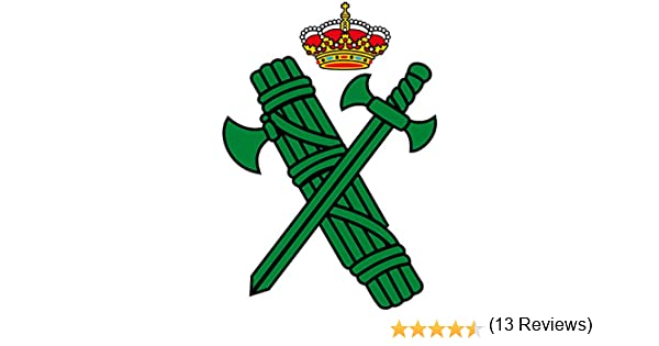 Artimagen Pegatina Logotipo Guardia Civil 40x60 mm.