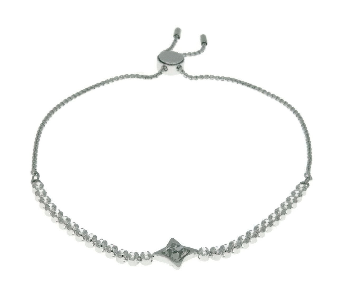 Swarovski Crystal White Rhodium-Plated Subtle Star Bolo Bracelet by Swarovski (Image #1)