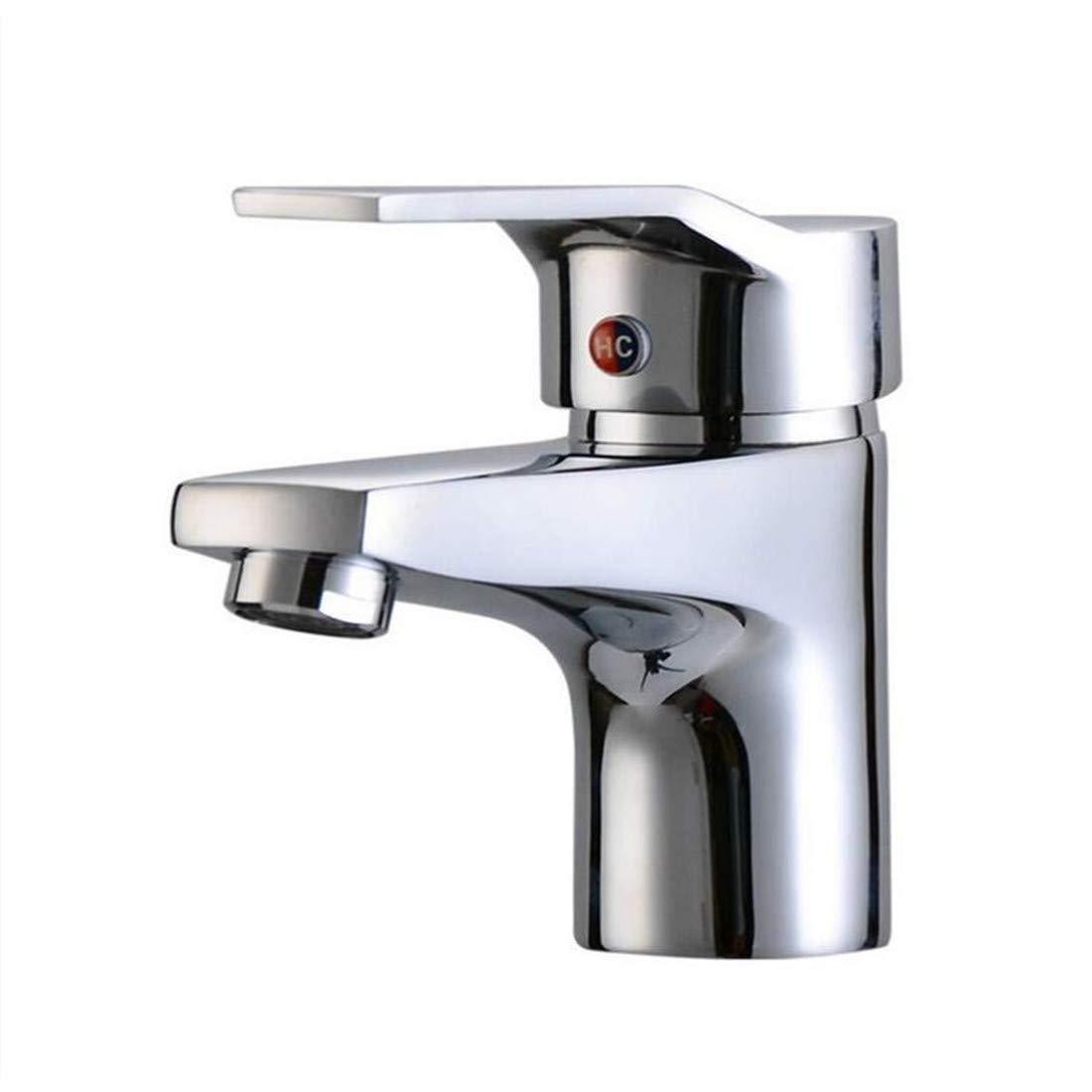 Vintage Chrom Messing Küchenarmaturen Wasserhahn Messing Warmes und kaltes Wasserhahn Waschbecken Wasserhahn Mischventil
