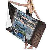 QWED Window Sky Water Unisex Luxury Beach Towels Fashion Sauna Yoga Gym Towel