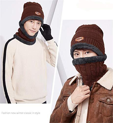 Wool Mantiene Thermal Cap Libre 1 Twinset Wool Cap marrón Winter Thick Fashion al XIANGMAI Sets Mujeres Knitting Warm Female Aire Bufanda Winter Tw6vc5qz