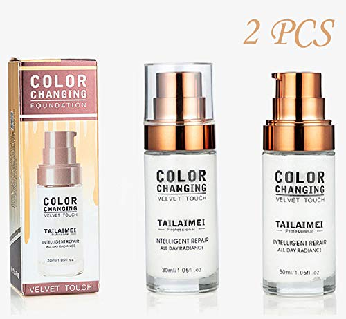 Concealer Cover,Flawless Colour Changing Foundation Makeup Base Nude Face Liquid Cover Concealer (2)