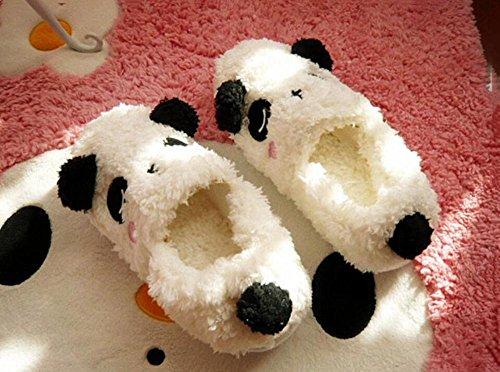 Da Piccolo Orecchie Cartone Pantofole Panda Le Animato bianco Entrambe Scarpe Peluche Imballato White Lodte Casa Con Calde Carino rosa P5WfHqqd