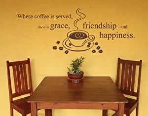 Style & Apply - Coffee is Served - wall decal, sticker, mural vinyl art home decor