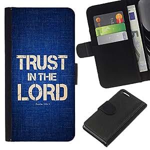 All Phone Most Case / Oferta Especial Cáscara Funda de cuero Monedero Cubierta de proteccion Caso / Wallet Case for Apple Iphone 5C // BIBLE Trust In The Lord - Psalm 125:1