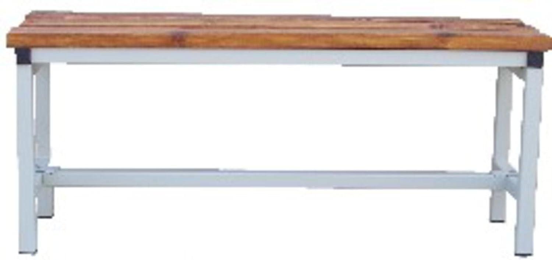 Panca da 2 metri da spogliatoio metallo e legno Coarme