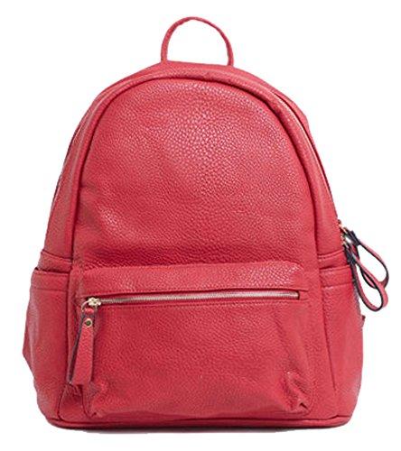 Vegan Leather Bag Design Rucksack Medium 1 Red Big Unisex Size Backpack Shoulder Handbag Shop p6nwZtA