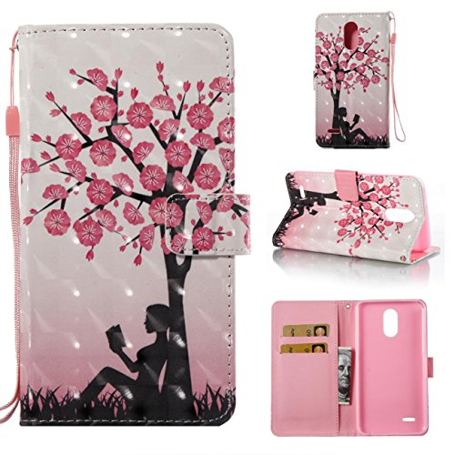 Lg Stylo 3 Case,PU Leather Shock Proof Bumper Cover Lightweight Kickstand Case with Magnetic Card Holder and Strap Birthday Xmas Halloween Gift for Boy Girl for Lg Stylo 3/Lg Stylus -