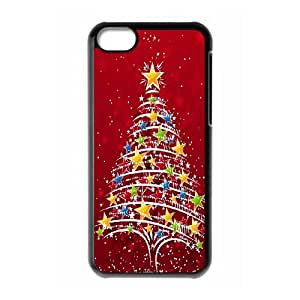 iPhone 5c Cell Phone Case Black Christmas Tree Qghct