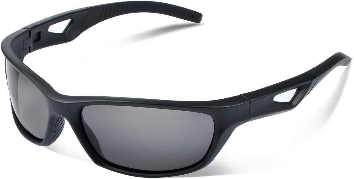 Vimbloom Hombre Gafas de Sol Deportivas polarizadas para béisbol, Atletismo, Ciclismo, Golf, Pesca VI685