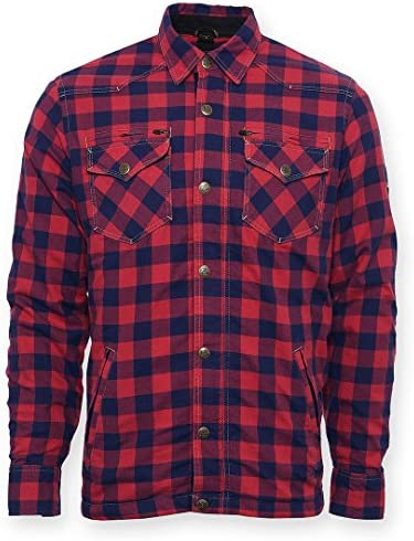 Bores Kevlar Camisa Moto Chaqueta Lumberjack leñador Lumberjack Rojo Tamaño 7 x l: Amazon.es: Coche y moto