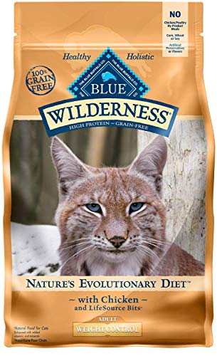 Blue Buffalo Wilderness High Protein Grain Free, Natural Adult Weight Control Dry Cat Food, Chicken 5-Lb