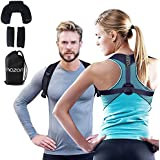 Posture Corrector for Women and Men - Adjustable Back Brace Support for Shoulder Back and Neck Pain Relief - Scoliosis Kyphosis and Clavicle Brace - Plus Neck Pillow and Travel Bag