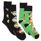 Mens 2 Pack Teenage Mutant Ninja Turtles Socks