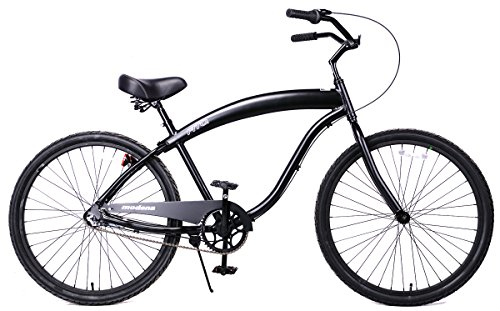 Fito Men's Modena 2.0 Aluminum Alloy 3 Speed Beach Cruiser Bike, Matte Black, 18
