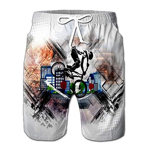 (Sport of Bicycle Rider Men Swimwear Volley Pants Pocket S)