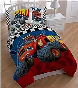 Amazon.com: 5 Piece Kids Monster Truck Comforter Twin Set ...