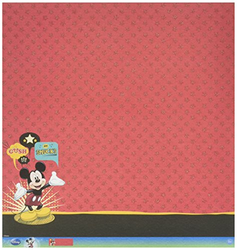 EK Success Bulk Buy: Disney Glittered Thermography Paper 12in. x 12in. Mickey Family Mickey Mouse (12-Pack) ()