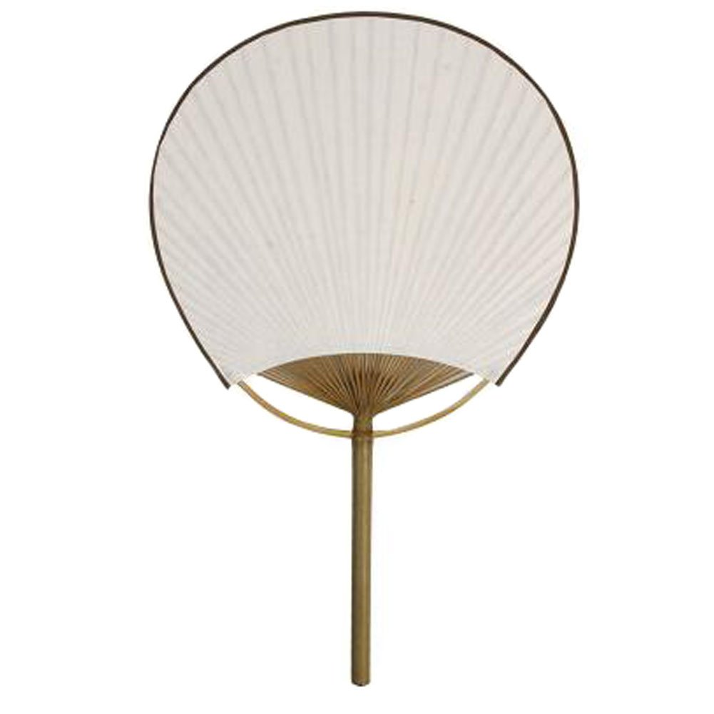 Blancho Japanese Style Bamboo Handle Round Hand Fan Handheld Fan Perfect Gift, H Blancho Bedding