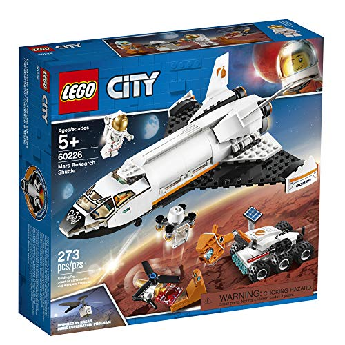51XLHnGeCkL - LEGO City Space Mars Research Shuttle 60226 Space Shuttle Toy Building Kit with Mars Rover and Astronaut Minifigures, Top STEM Toy for Boys and Girls, New 2019 (273 Pieces)