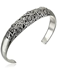 Sterling Silver Bali Inspired Filigree Dragonfly Design Cuff Bracelet