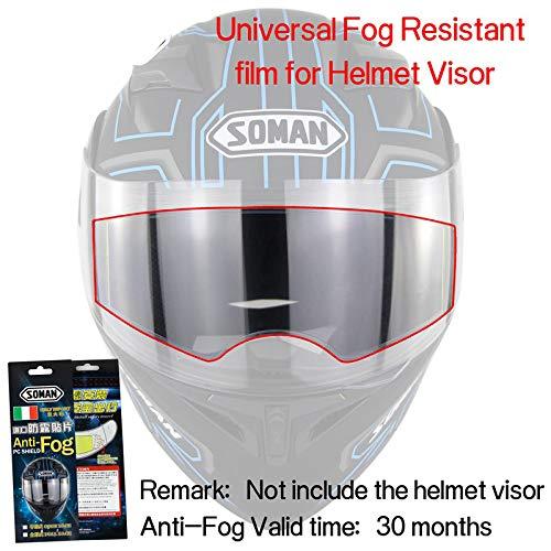 XuBa Universal Motorrad General Antitifogging Film fü r Motorrad Helm Objektiv