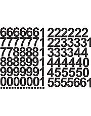 Nummerstickers 5 cm hoog - in zwart - 96 zelfklevende cijfers en cijfers 0-9 - ideaal voor buiten omdat water en weerbestendig