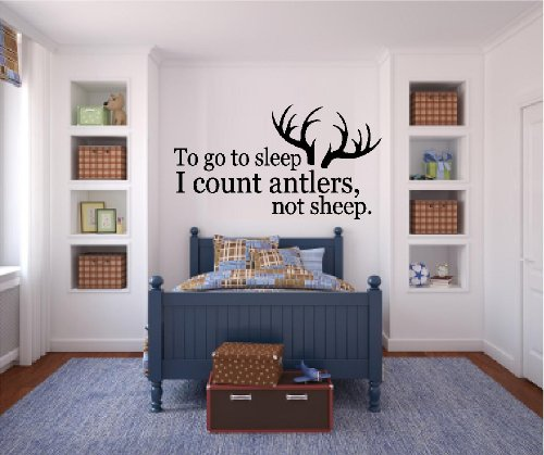 BestPricedDecals TO GO TO SLEEP I COUNT ANTLERS NOT SHEEP #1 ~ WALL DECAL 13