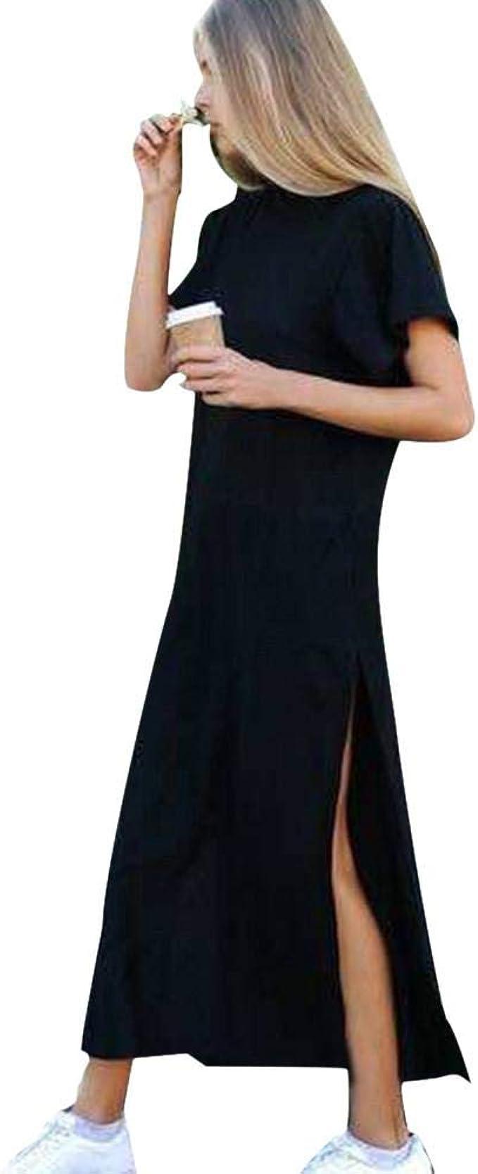 VJGOAL Mujer Moda Casual de Primavera y Verano Cuello Redondo Lado ...