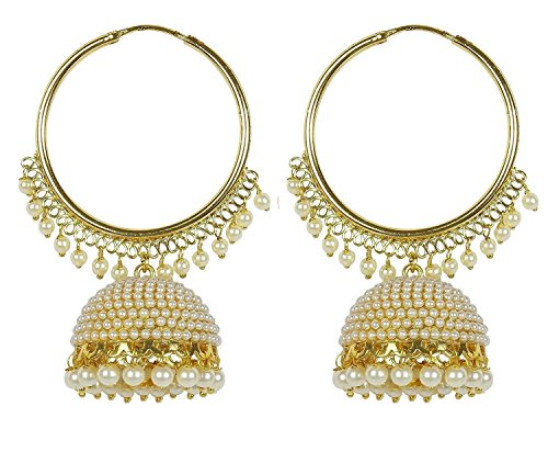 Royal Bling Stylish Traditional Indian Jewelry Hoop Jhumki Jhumka Earrings for (Indian Style Earrings)