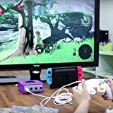 Gam3Gear Brook Super SW Converter for GameCube GC to Nintendo Switch Controller Adapter with Gam3Gear Keychain
