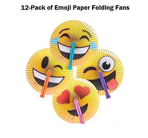 12 Emoji Gang Foldable Paper Fans