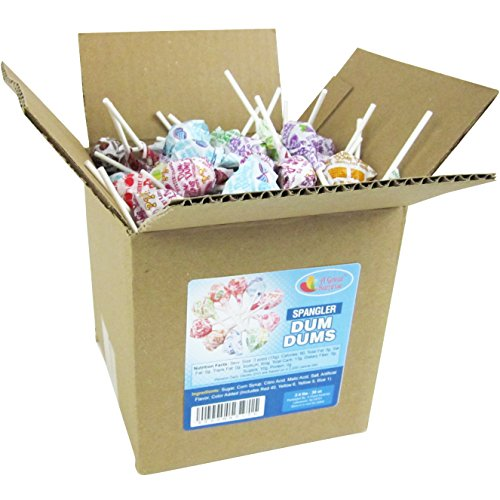Dum Dums Pops by Spangler, Assorted Flavors Lollipops in 6x6x6 Box Bulk Candy, 2.4 lbs. - 38 oz. by Dum Dums (Image #2)