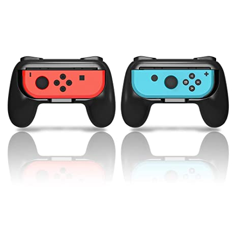 YOSH Joy Con Grip for Nintendo Switch Controller Set of 2 Mario Kart 8  Handle Comfort Pro Grip Kits Enlarge Ergonomic Design Suggested for Super  Smash