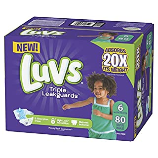 Luvs Luvs Triple leakguards Diapers Size 6 80 Count, 80 Count