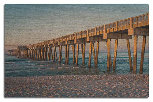 Lantern Press Panama City Beach, Florida - Pier - Photography A-93414 (12x18 Wood Wall Sign, Wall Decor Ready to ()