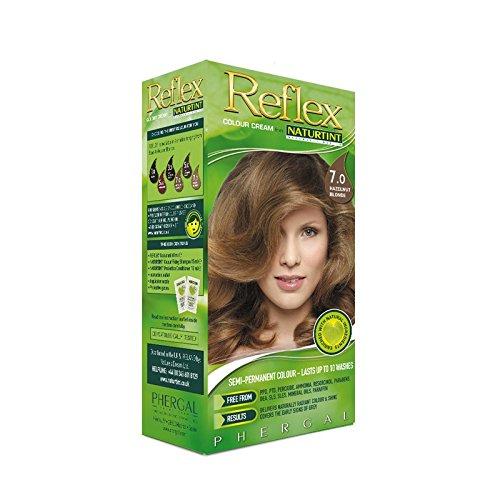 毒め言葉窒息させるNaturtint Reflex Non Permanent Colour Rinse 7.0 Hazelnut Blonde (Pack of 2) - Naturtint反射非永久的な色7.0ヘーゼルナッツブロンドをすすぎます (x2) [並行輸入品]