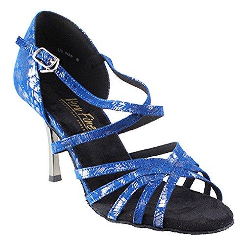 Gouden Duivenschoenen Party Party 1613 Comfort Avondjurk Pump Sandalen, Dames Ballroom Dansschoenen (2,5, 3 & 3,5 Hoge Hakken) 1613l- Blauw