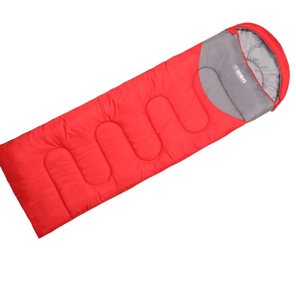 rouge 1.3KG XX Sac de Couchage léger imperméable pour Adultes pour Voyages de Camping en Plein air, y Compris Un Sac pour compresseur Gratuit
