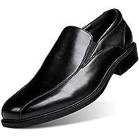 Men's Formal Leather Dress Shoes Slip-On Loafer Black