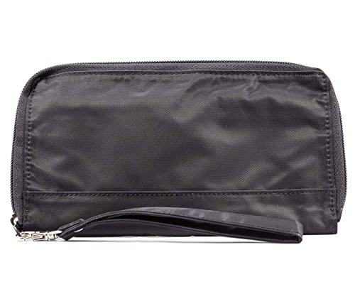 Big Skinny Women's Panther Clutch Slim Wallet, Holds Up to 40 Cards, Black