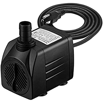 Homasy 400gph submersible pump 25w fountain for Best water pump for pond
