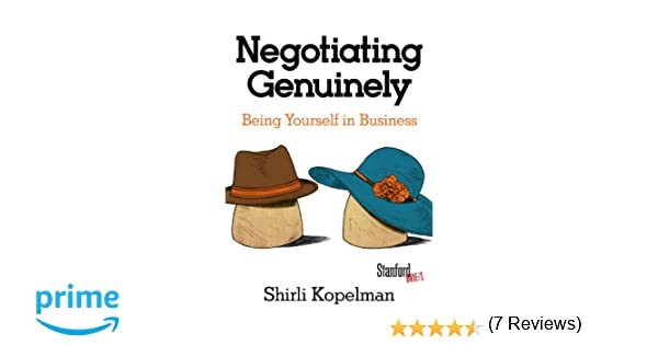 Amazon.com: Negotiating Genuinely: Being Yourself in Business ...